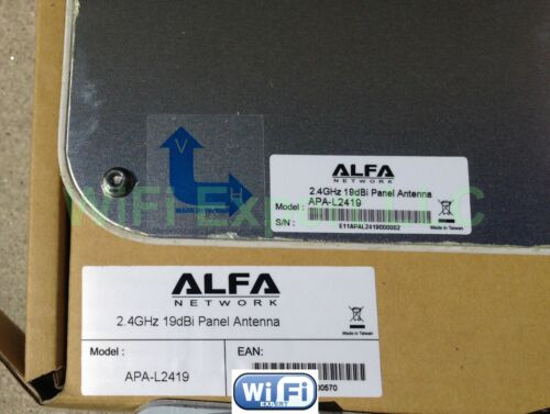 ALFA APA-L2419 19dBi Panel Outdoor Super High Gain Booster with N Female L Adapt