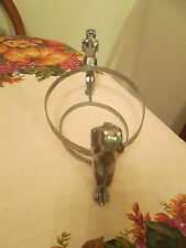 Vintage Cambridge Glass Bashful Charlotte CHROME deco antique Farber brothers
