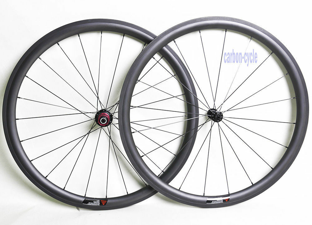 1380g Sapim 38mm Carbon Wheelset Clincher Rim  700C UD Matt Road Bike Powerway  trendy