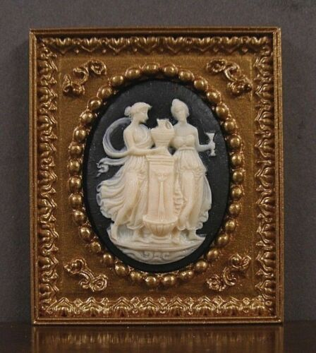 FRAMED  3D  CAMEO  PICTURE ~  Dollhouse  Miniature  ~ 1:12 scale ~ Room Box