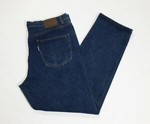 Romano-jeans-uomo-usato-W46-tg-60-gamba-dritta-denim-boyfriend-vintage-T3426