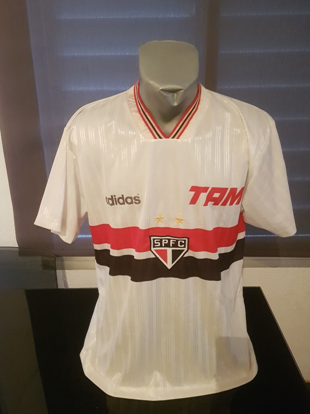 MAILLOT T-SHIRT VINTAGE 90'S F.C ADIDAS-SÃO PAULO F.C 90'S DORSALE N°9 TAILLE XL 26d396
