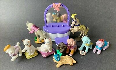 Puppy in my pocket set of 2 WITH Mirror 1995 Vintage PONY in My Pocket Laura /& Roly Poly Love N Sparkle Series