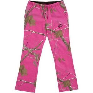 00ed7252fb068 NWT Womens Sweat Lounge Pants Realtree Hot Pink Camo Hunting Size ...