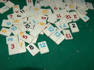 REPLACEMENT SINGLE TILES for Rummikub Made In Israel  (TILES Sold Individually!)