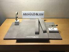 New - Set of Display & Taco Expositor ARNOLD & SON - Watch Montre Reloj - Nuevo