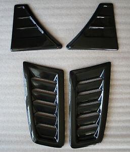 FOCUS RS MK3 stile in plastica ABS Sotto Cofano Vent Trim PIASTRE OEM Raso Nero