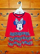 1 red minnie mouse dress  withanimal print Toddler Girls Size 3T