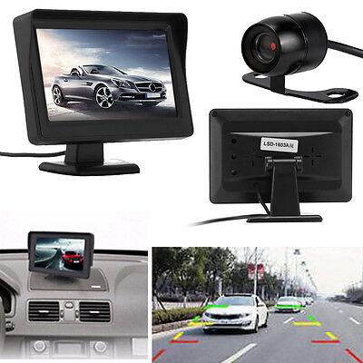4.3'' TFT LCD Car Rear View Backup Monitor System + Parking Camera Night Vision