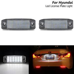 2x 18 Smd Led Number License Plate Light For Hyundai Sonata 10 Yf 10my 2010 2020 Ebay
