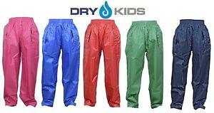 Essiccare-Kids-Impermeabile-Sopra-Pantaloni-Pioggia-Bambini-Ragazzi-e-Ragazze-Bambino-Eta-2-13