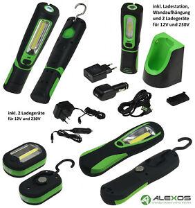 LED-COB-Arbeitsleuchte-Werkstattleuchte-Handlampe-Taschenlampe-Stableuchte-Akku