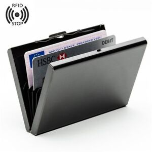 lowest price e1448 5f424 Details about Steel Smart Credit Card Case Wallet RFID Technology Protect  Business Card Holder