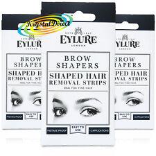 3x Eylure Eyelure Eyebrow Brow Shapers Shaped Hair Removal Wax Strips