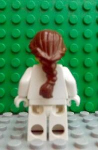 Lego Dark Brown Minifig Hair Female Ponytail Long French Braided 4581313 88286