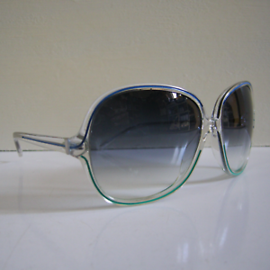 Blue Gradient 63mm Oliver Peoples Sabina CRY//NP Sunglasses Crystal Clear