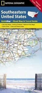 National Geographic Guide Map: Southeastern United States Road Map ...