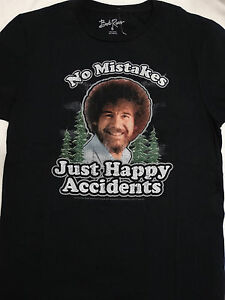 dad61845 Bob Ross Artist No Mistakes Just Happy Accidents Joy Of Painting T ...