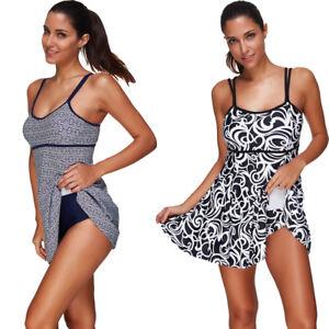0216118ad38fa Women s Push-up Padded Swim Dress Swimsuit Bikini Set Bathing ...