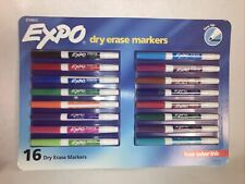 Expo Dry Erase Markers Low Odor Ink Fine Tip 16 Count