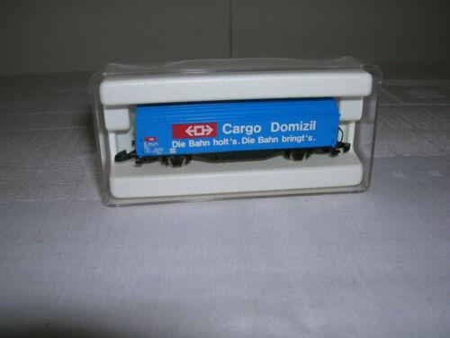 "Märklin Mini-Club 1:220 Spur Z Schiebewandwagen /""Cargo Domizil/"" DB Art 8656"