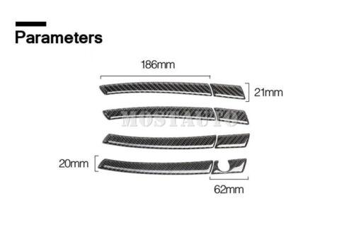 For Benz GLA X156 Carbon Fiber Car Door Handle Cover Trim 8pcs 2013-2018