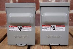 Set-of-2-Siemens-WN2060-60A-240VAC-Rainproof-Type-3R-Enclosures-Non-Fused