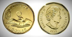 Canada-2012-Olympic-Lucky-Loonie-BU-UNC-From-Mint-Roll