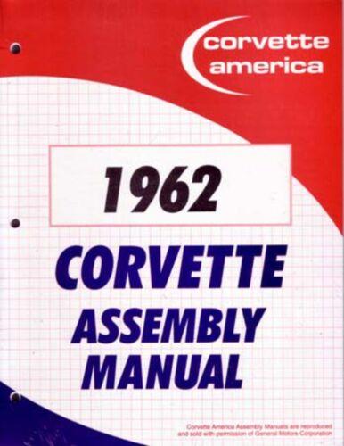 1962 Chevrolet Corvette Assembly Manual Book Rebuild Instructions Illustrations
