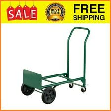 2 In 1 Convertible Hand Truck And Dolly 400 Lb Capacity Toe Plate Secures Loa