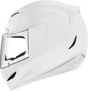 NEW-ICON-AIRMADA-GLOSS-WHITE-MOTORCYCLE-HELMET-STREET-STUNT-CRUISER-ALL-SIZE