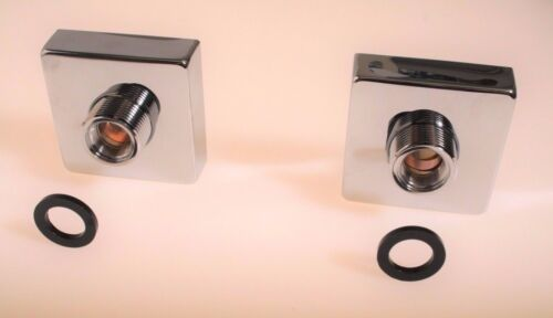 Exposed Bar Shower Wall Connectors with Chrome Covers