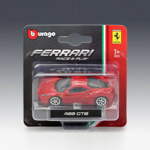 NEW-RED-1-64-MINI-BBURAGO-RACE-amp-PLAY-FERRARI-488-GTB-DIECAST-MODEL-CARS-KIDS-TOYS