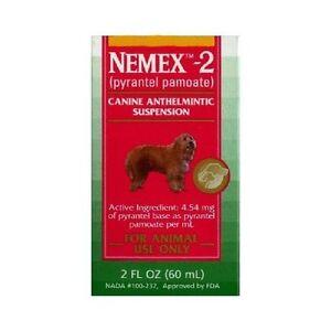 pfizer nemex ii dog puppy wormer pyrantel pamoate 2 oz bottle rh ebay com