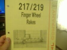 Gehl 217219 Finger Wheel Rakes Operators Parts Manual