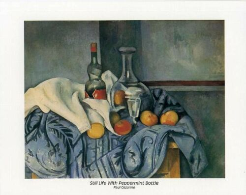 Still Life with Peppermint Bottle Cezanne 10x8 In