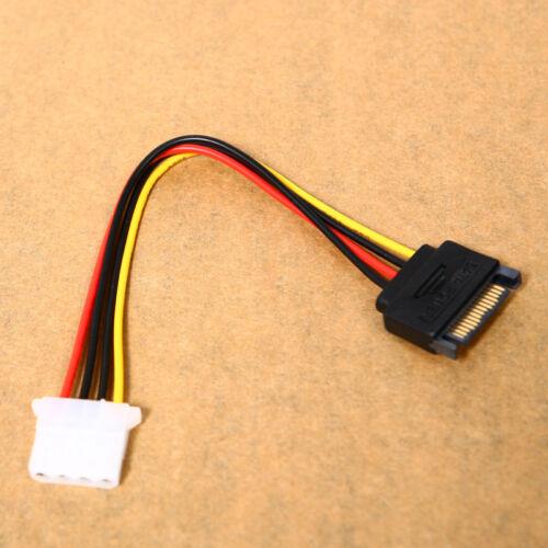 Male Female 4-pin Power Drive Adapter Cable to Molex IDE SATA 15-pin IL