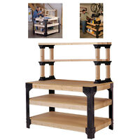 Diy Workbench Shelf Leg Kit Garage Shop Workshop Table Bench Storage Tool