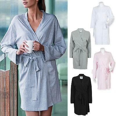Towel City Women's Wrap Robe tc050 Ladies Loungewear Dressing Cotton Gown