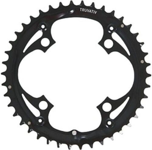 "TRUVATIV Fahrrad Kettenblatt /""MTB//Trekking/"" 42 Zähne 104 mm Lochkreis schwarz"