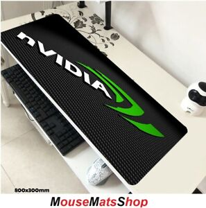 NVIDIA-Extra-Large-Gaming-Mouse-Tappetino-PAD-ANTISCIVOLO-F-PC-laptop-scrivania-da-ufficio-80x30cm