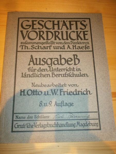 Sparsam Geschäfts Vordrucke Von 1928 Top Zustand + Schreibblock Tropf-Trocken