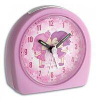 Kinderwecker BEST FRIENDS leises Uhrwerk geräuschloser Quarzwecker Pink Junior