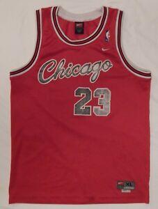 VTG-Michael-Jordan-Chicago-Bulls-23-NIKE-Sewn-BASKETBALL-JERSEY-youth-SIZE-XL