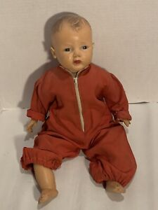 VINTAGE-AMERICAN-CHARACTER-RUBBER-amp-Cloth-Doll-Baby-18