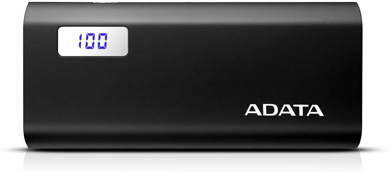 ADATA P12500D Dual USB Fast Charging Digital Disply 12500mAh Power Bank - Black