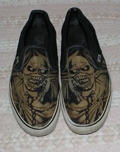 e6896094d470cc Iron Maiden VANS Slip On Shoes 12 Piece of Mind USED Limited Edition ...