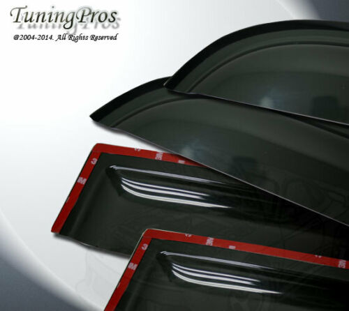For 14-16 Lexus IS250 IS350 2.0mm Outside Mount Rain Guard Deflector Visor 4pcs