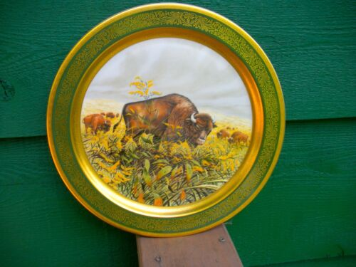 """AMERICAN BUFFALO"" 1976 Limited Ed.Plate PICKARD CHINA Hand Decorated"
