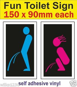 image is loading 2 colour toilet mens womens decals wc sign - Fun Pictures To Colour In 2